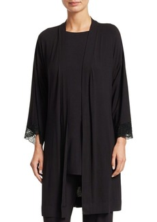 Saks Fifth Avenue Lace-Trimmed Robe