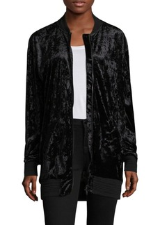 Saks Fifth Avenue Langston Crushed Velvet Bomber Jacket