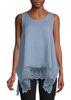Saks Fifth Avenue Layered Linen Top