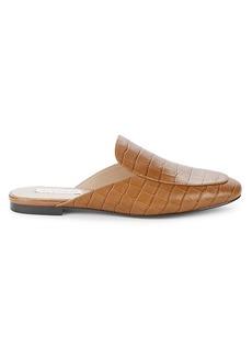 Saks Fifth Avenue Layla Crocodile-Embossed Leather Mules