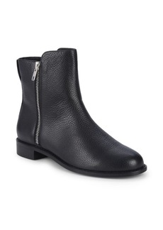 Saks Fifth Avenue Leather Dual Zip Ankle Boots