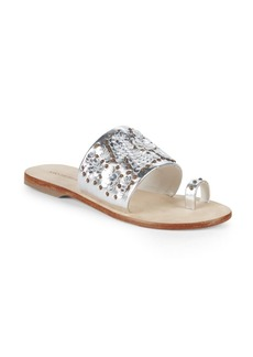 Saks Fifth Avenue Leather Embellished Sandals