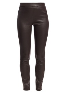 Saks Fifth Avenue Leather Leggings