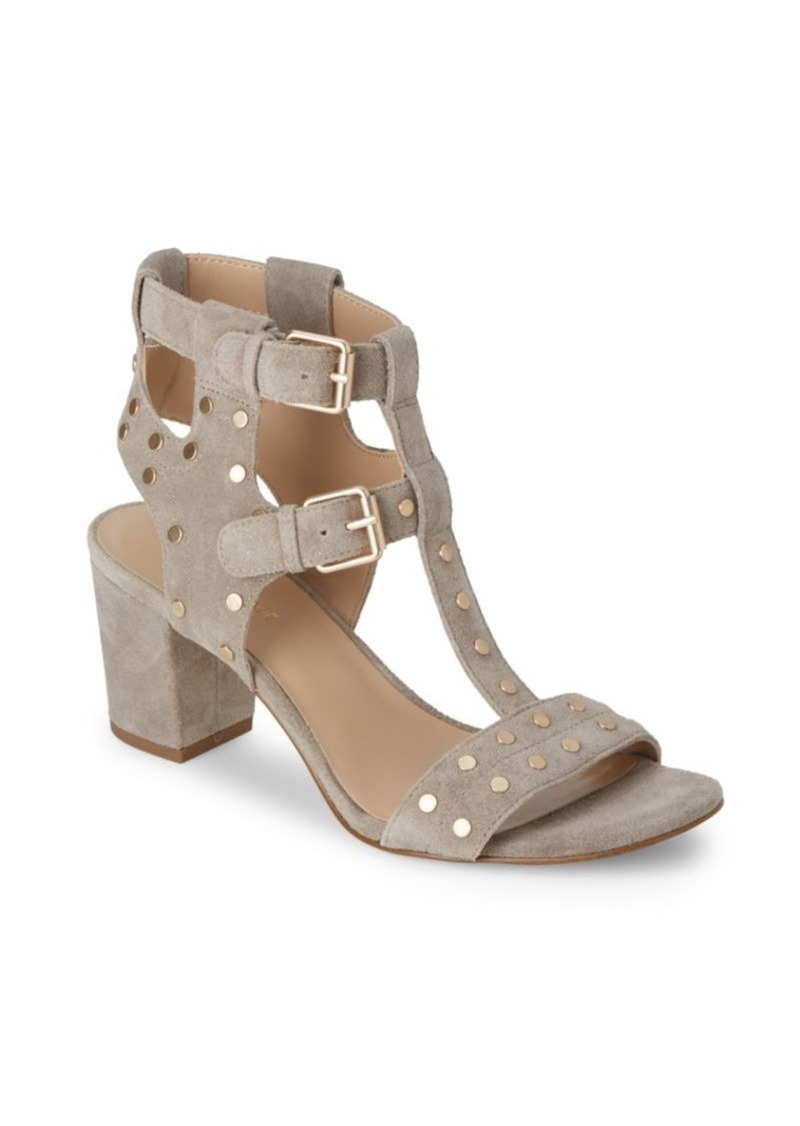 54499a37b2e0 On Sale today! Saks Fifth Avenue Leena Block-Heel Suede Sandals