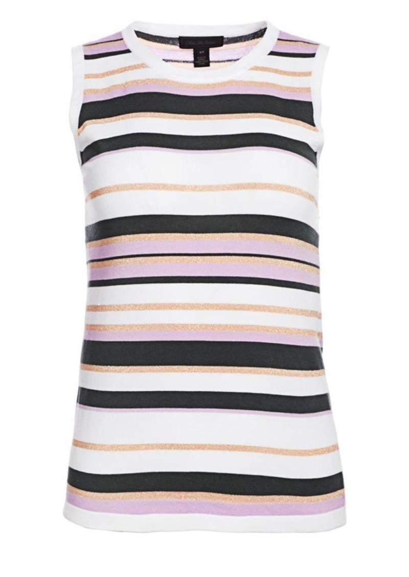 Saks Fifth Avenue Lennox Striped Sleeveless Shell Tee