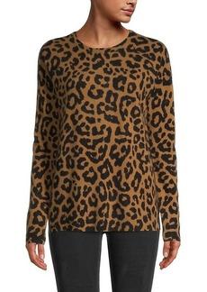Saks Fifth Avenue Leopard Cashmere Sweater
