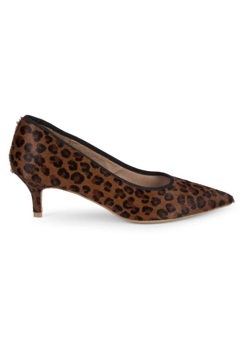 Saks Fifth Avenue Leopard Print Calf Hair Pumps