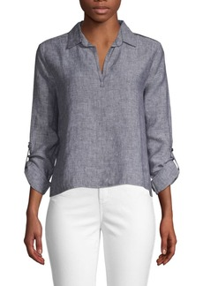 Saks Fifth Avenue Linen Blouse