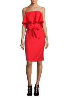Saks Fifth Avenue Linen Strapless Dress