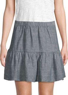 Saks Fifth Avenue Linen Tiered Skirt