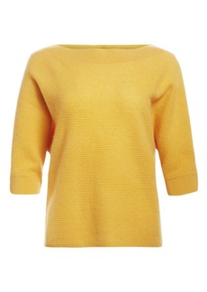 Saks Fifth Avenue Link Stitch Boatneck Cashmere Sweater