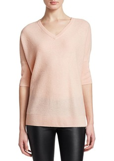 Saks Fifth Avenue Link Stitch Dolman Cashmere Sweater