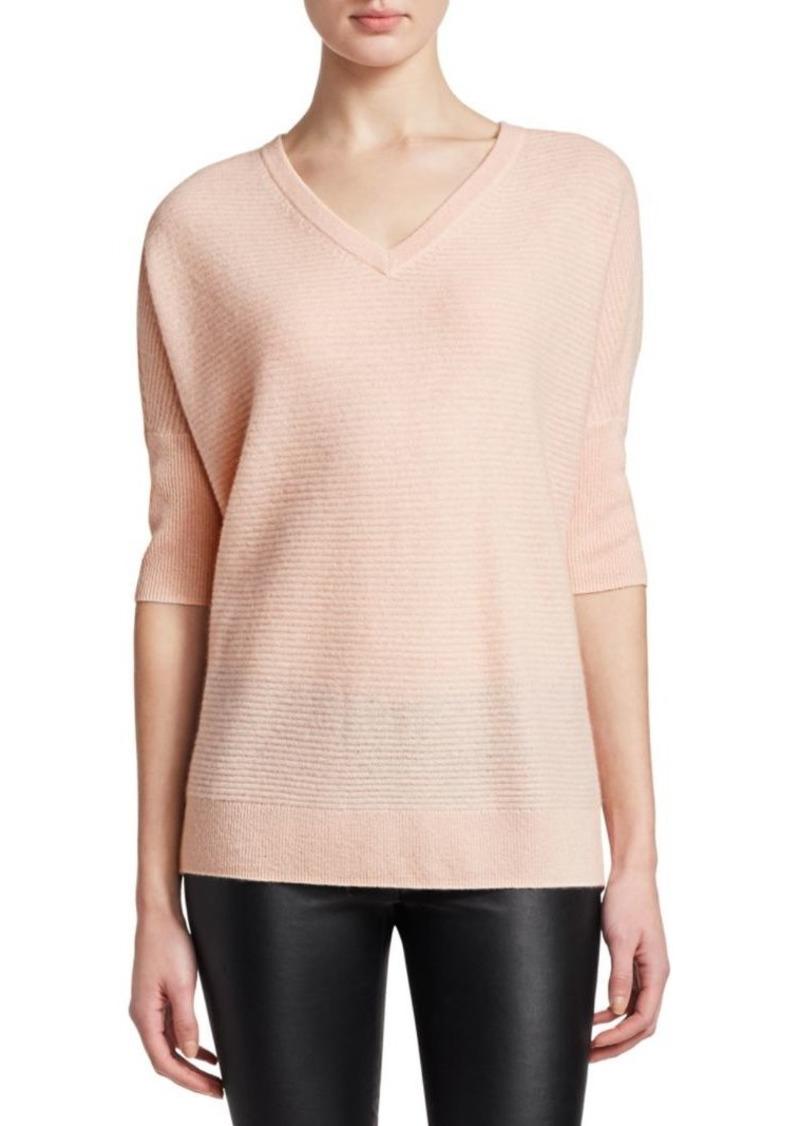 Saks Fifth Avenue Link Stitch Dolman Cashmere Sweater