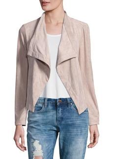 Long-Sleeve Foldover-Lapel Jacket