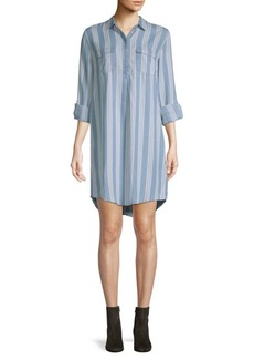 Saks Fifth Avenue Long-Sleeve Striped Shirtdress