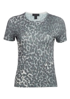 Saks Fifth Avenue Lurex Animal Print Tee