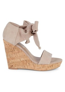 Saks Fifth Avenue Mckenna Cork & Suede Platform Wedge Sandals