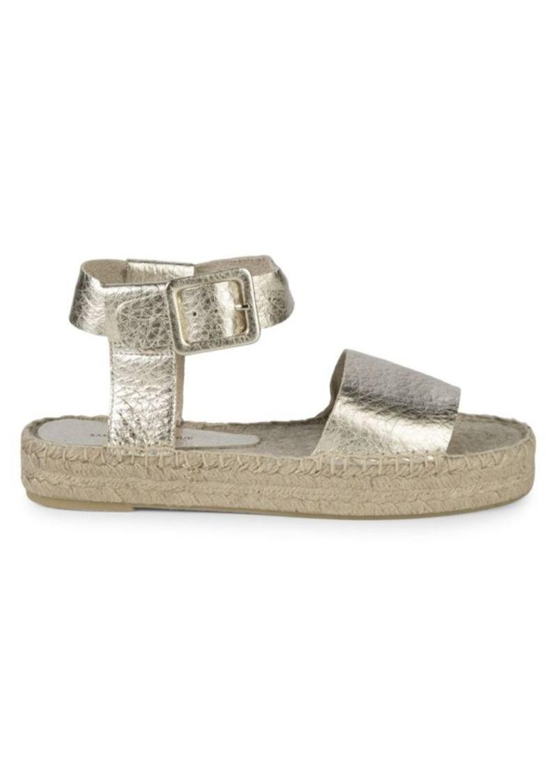 Saks Fifth Avenue Metallic Ankle-Strap Platform Espadrilles
