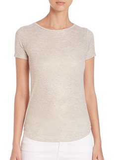 Saks Fifth Avenue Metallic Short Sleeve Crew T-Shirt