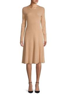 Saks Fifth Avenue Midi A-line Cotton-Blend Dress