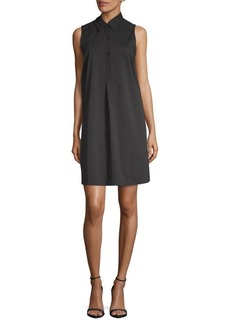 Saks Fifth Avenue Mini Sleeveless Shirtdress
