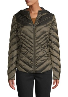 Saks Fifth Avenue Missy Hooded Down Puffer Jacket