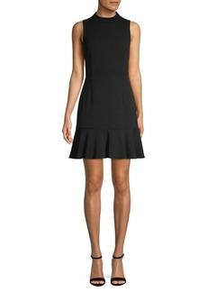 Saks Fifth Avenue Mockneck Flounce Dress