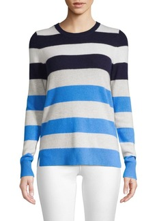 Saks Fifth Avenue COLLECTION Multi-Stripe Cashmere Sweater