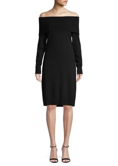 Saks Fifth Avenue Off-The-Shoulder Sweater Dress