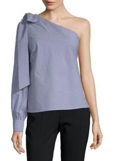 Saks Fifth Avenue One-Shoulder Bow Top