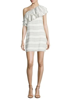 Saks Fifth Avenue One-Shoulder Ruffled Dress
