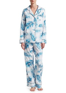 Saks Fifth Avenue Palm Sateen Pajama Set