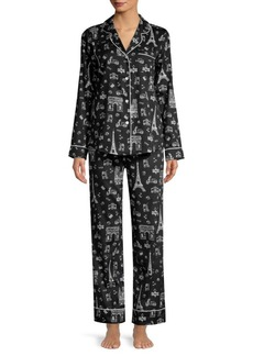 Saks Fifth Avenue Paris Print Pajama Set