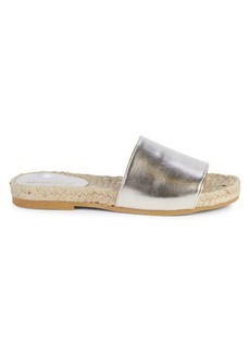Saks Fifth Avenue Paula Leather Espadrille Slides