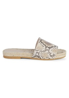 Saks Fifth Avenue Paula Snake-Print Leather Espadrilles