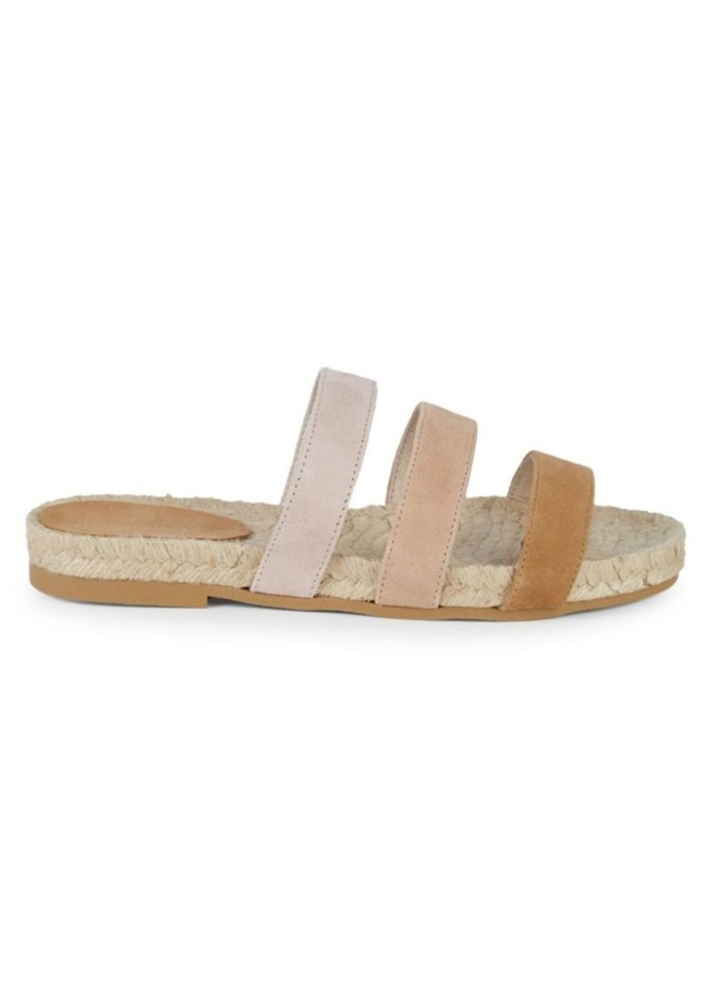 Saks Fifth Avenue Peggy Strappy Suede Espadrille Slides