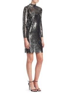 Saks Fifth Avenue Penelope Stripe Sequin Shift Dress
