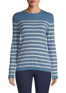 Saks Fifth Avenue Placed Striped Sweater