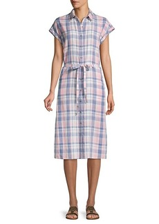Saks Fifth Avenue Plaid Button-Front Shirtdress