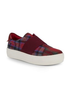 Saks Fifth Avenue Plaid Slip-On Sneakers