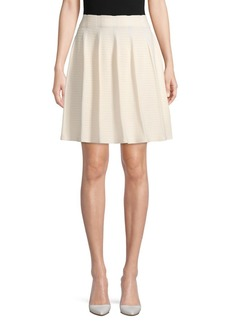 Saks Fifth Avenue Pleated Cotton Blend Skirt