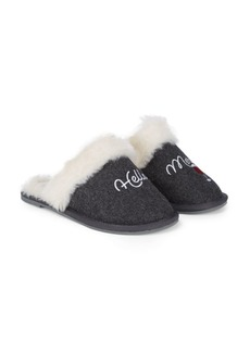 Saks Fifth Avenue Plush Faux Fur-Lined Slippers