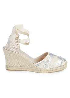 Saks Fifth Avenue Polina Sequin Wedge Espadrilles