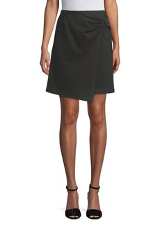 Saks Fifth Avenue Ponte Wrap Skirt