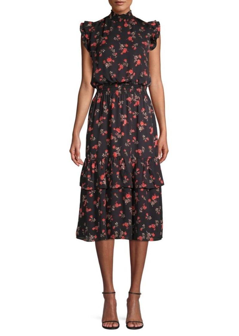 Saks Fifth Avenue Printed Midi Dress