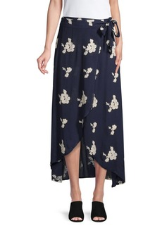 Saks Fifth Avenue Printed Midi Skirt