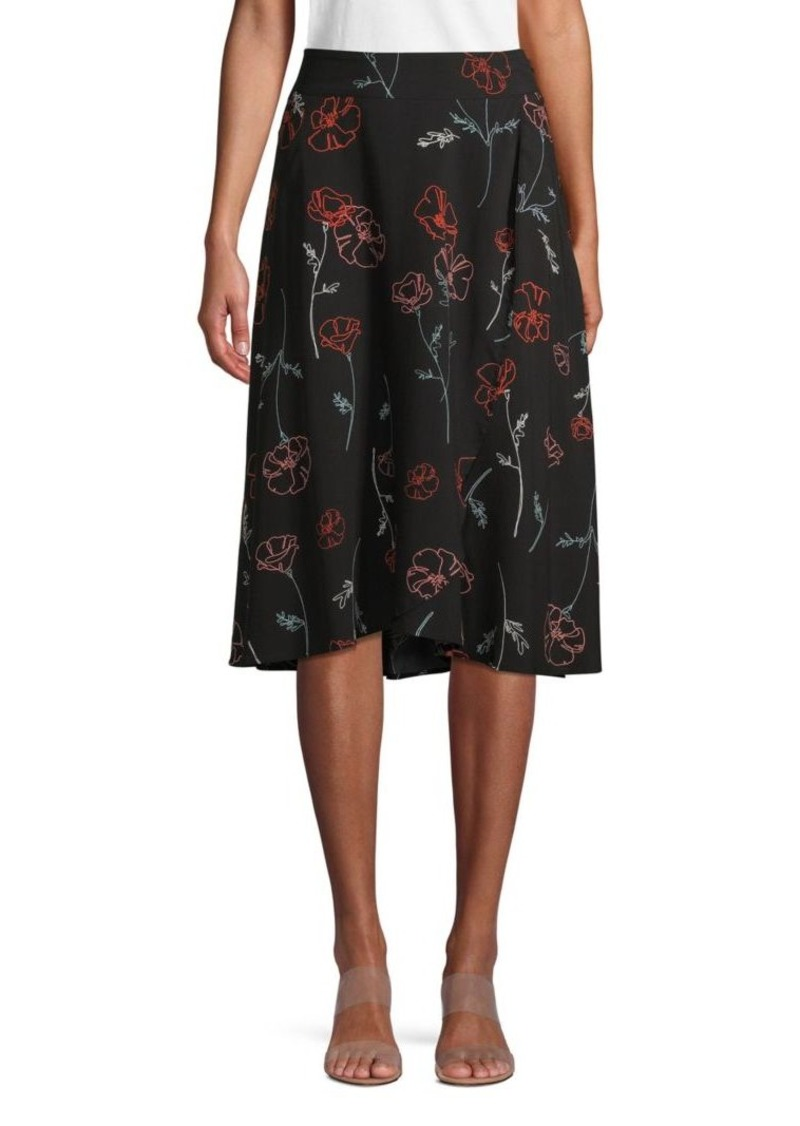 Saks Fifth Avenue Printed Wrap Skirt