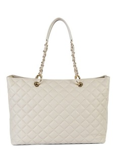 Saks Fifth Avenue Quilted Leather Tote