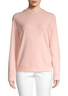 Saks Fifth Avenue Raglan-Sleeve Cotton Blend Hoodie