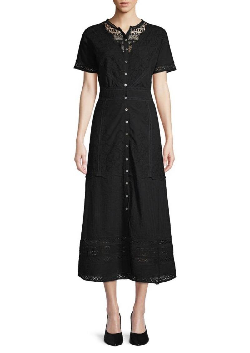 Saks Fifth Avenue Raphia Fringe Dress